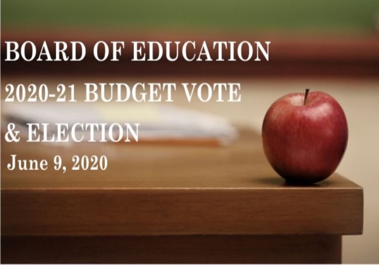 Annual Budget Vote & School Board Election will be held remotely by Absentee Ballot Only
