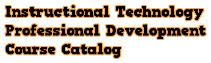 Professional Development Course Catalog