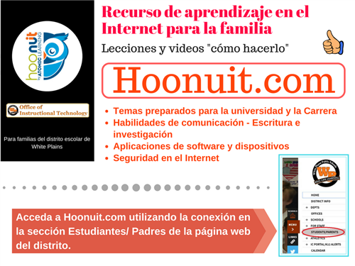 Hoonuit Flyer Spanish
