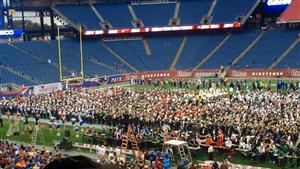 UMASS Band Day rehearsal
