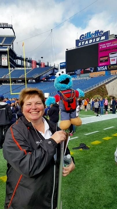 Ms. Davis at UMASS Band Day
