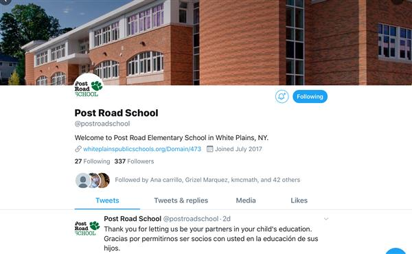 Post Road is now on Twitter