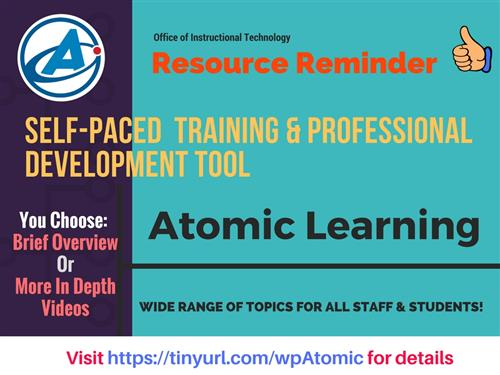 Atomic Learning Flyer