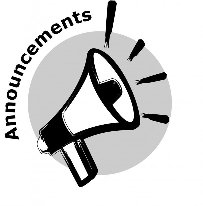 Click here to see our daily announcements!