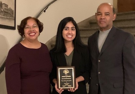 Congratulations,  Angela Mathews was named the city of White Plains 2019 Youth of the Year, by the White Plains' Common Council.