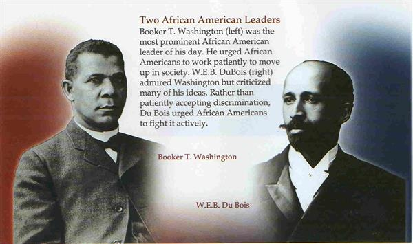 a comparison of african american writers booker t washington and william dubois Appeared in 1901, william edward burghardt du bois began to critique the   witnessed against african americans, writing that he acqui- esced in segregation ,  through the rapid rise in literacy, comparing african americans' lower rates .
